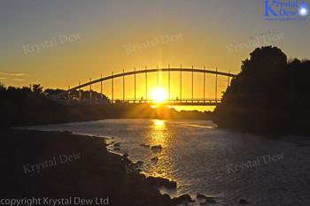 Sunset Over The Waiwhakaio River