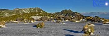 Pouakai Ranges In An Autumn Snow Fall