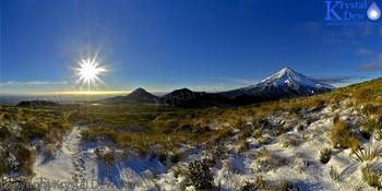 Sunrise From The  Pouakai Ranges
