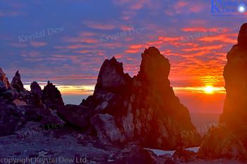 Sunset From Summit Of Taranaki