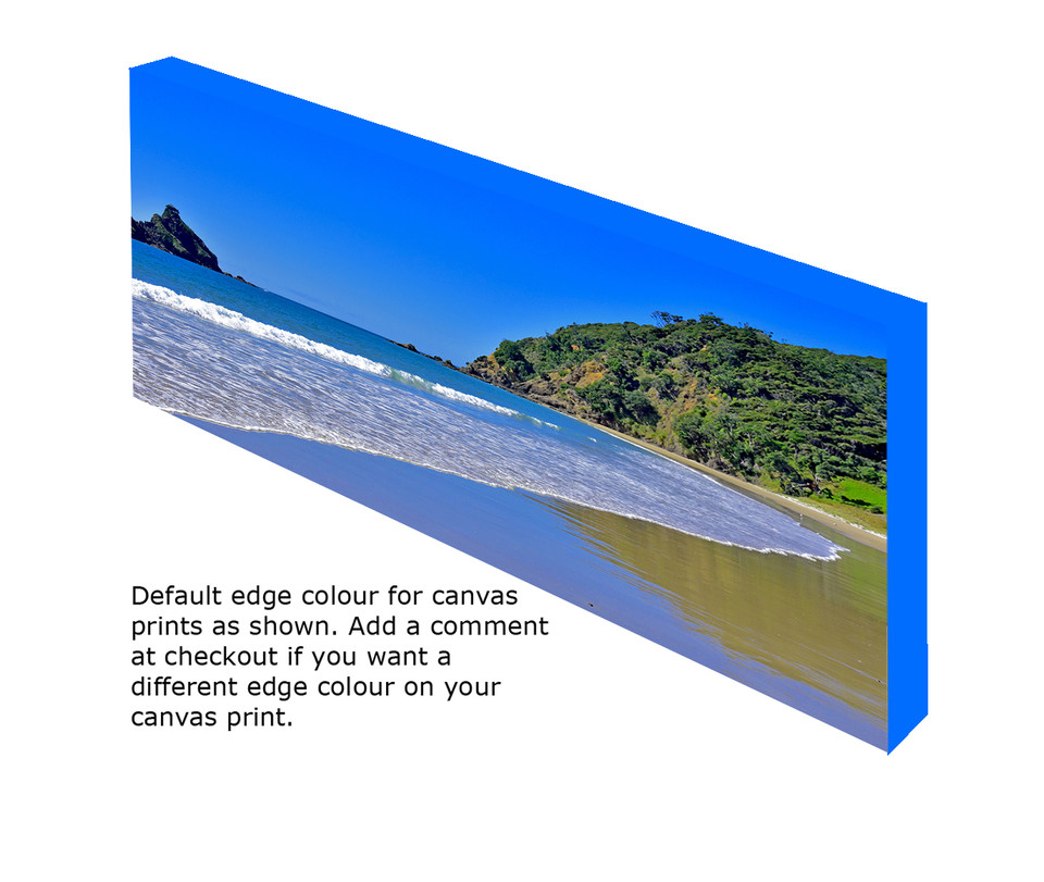 Canvas print showing default edge colour