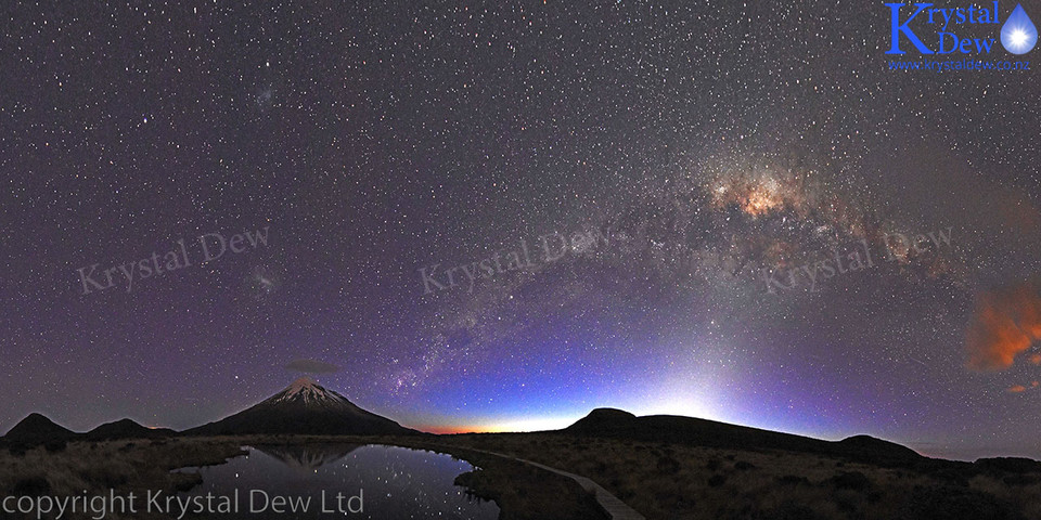 Nightscape of Taranaki and the Milky Way