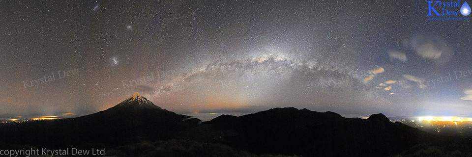 Nightscape of Taranaki and the Milky Way
