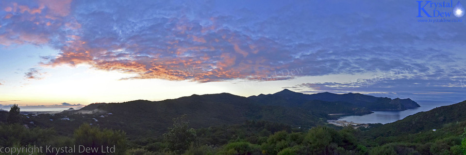 Sunrise at Great Barrier Island