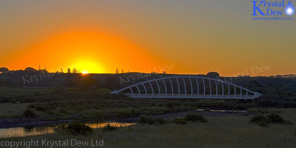 Sunrise Over Te Rewarewa Bridge