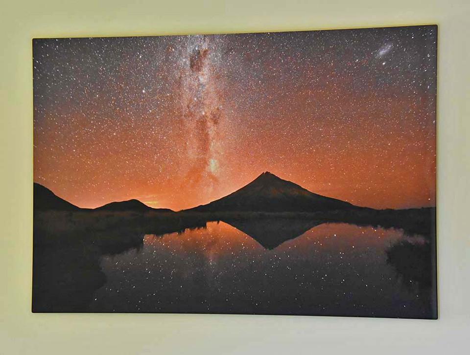 Nightsky Print Hanging On Wall