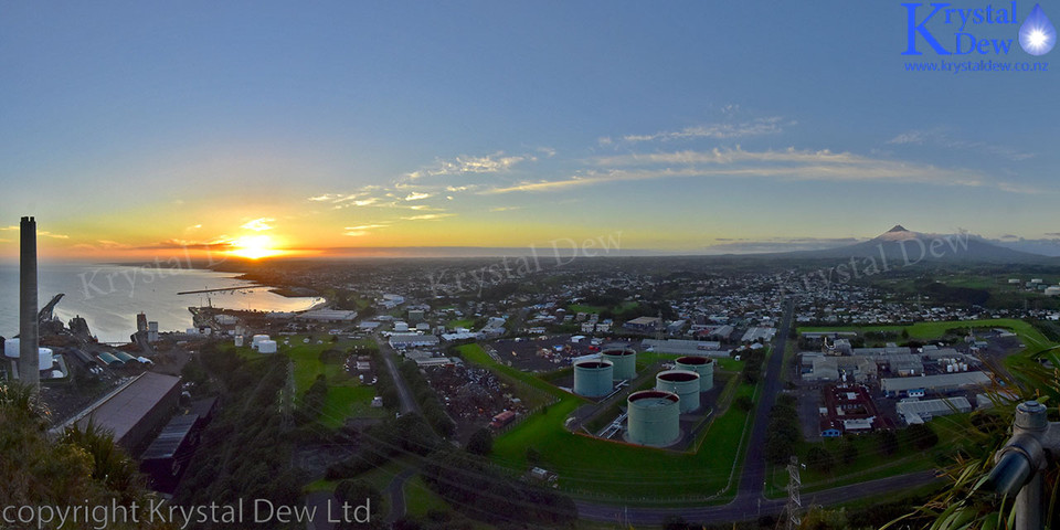 Sunrise Over New Plymouth