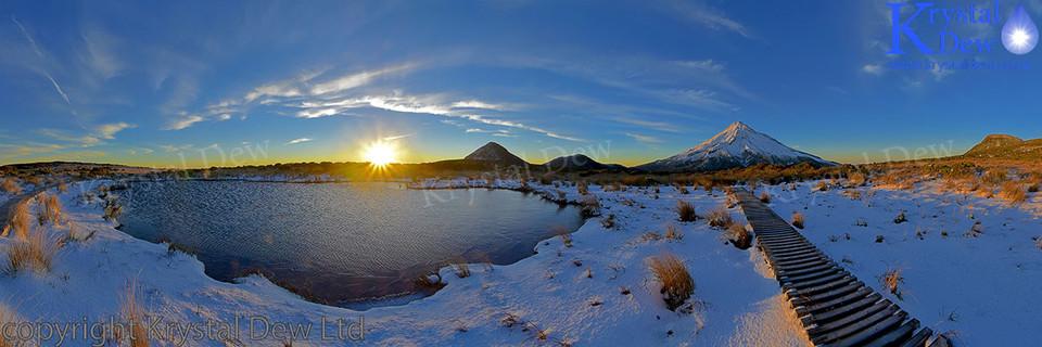 Sunrise From Pouakai Tarn