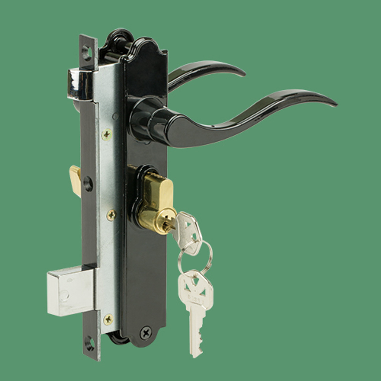 Picture of: Security Door Lever Mortise Lock Set