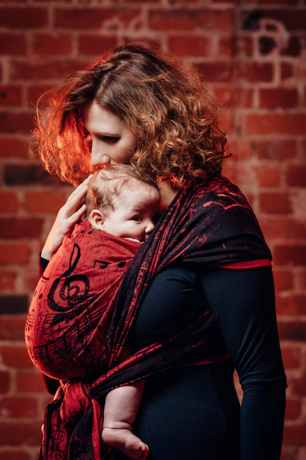 LennyLamb Woven Baby Wrap size 6 (Symphony Flamenco) - Try it before you Buy it
