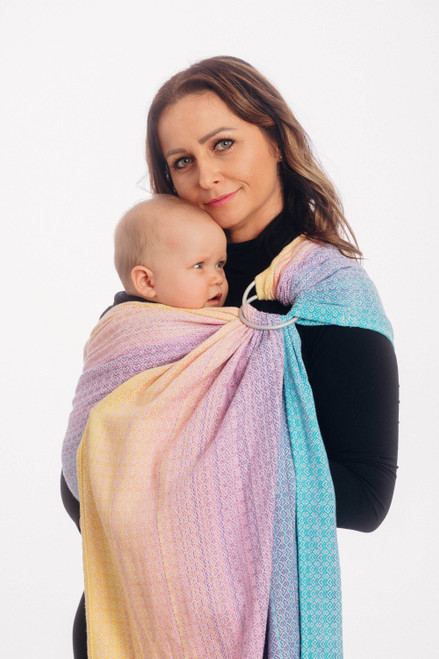 LennyLamb Ring Sling  with gathered shoulder, 1.8m (Littlelove Candyland) - Try it before you Buy it