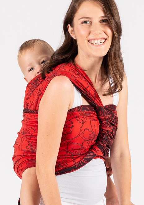 ISARA Woven Baby Wrap (Bloom in Rouge) - size 6