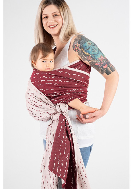 ISARA Woven Baby Wrap (Ruby Code) - size 6