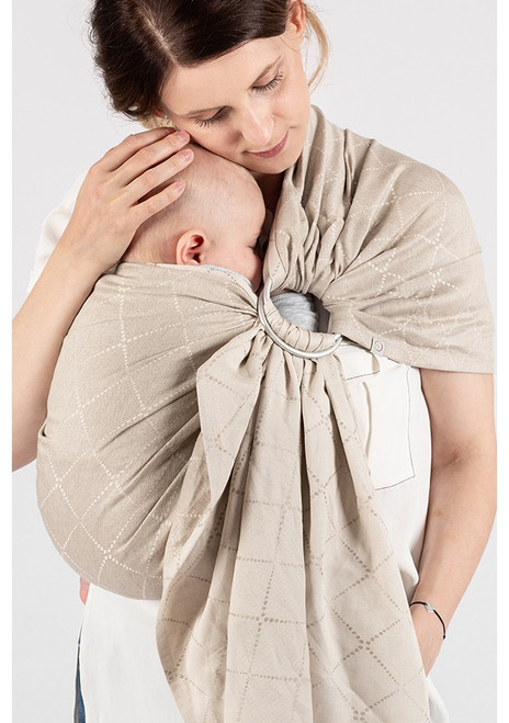 ISARA Ring Sling with gathered shoulder, 1.95m (Au Naturel)