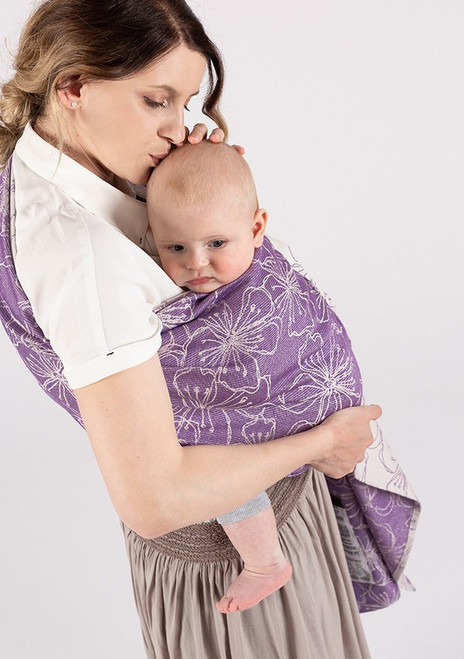 ISARA Ring Sling with gathered shoulder, 1.95m (Lilac Glow)