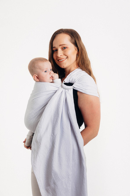 LennyLamb Ring Sling with gathered shoulder, 1.8m (Peacock's Tail Blanco)