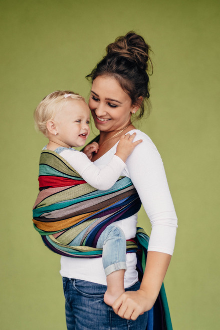LennyLamb Woven Baby Wrap (Carousel of Colours) - size 6
