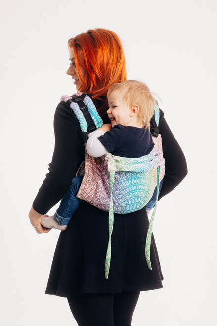 Lenny Buckle Onbuhimo Toddler Size (Peacock's Tail Bubble)