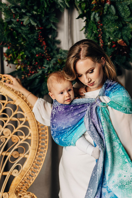LennyLamb Ring Sling with gathered shoulder, 1.8m (Snow Queen Crystal) - LIMITED EDITION