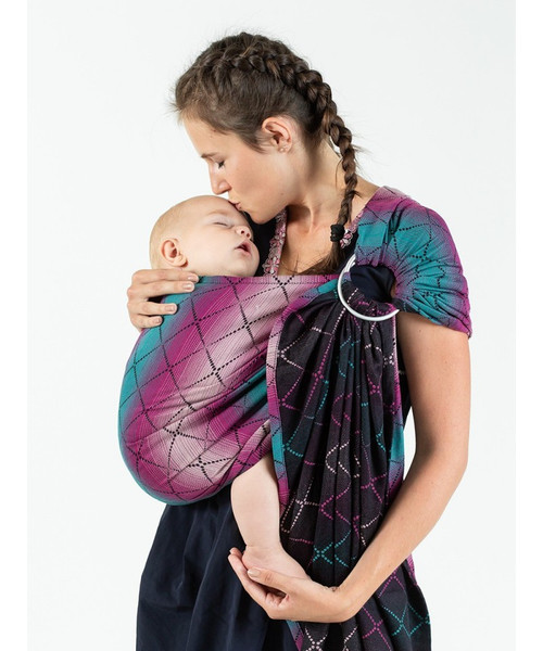 ISARA Ring Sling with gathered shoulder, 1.95m (Diamonda  Playing Mermaid)