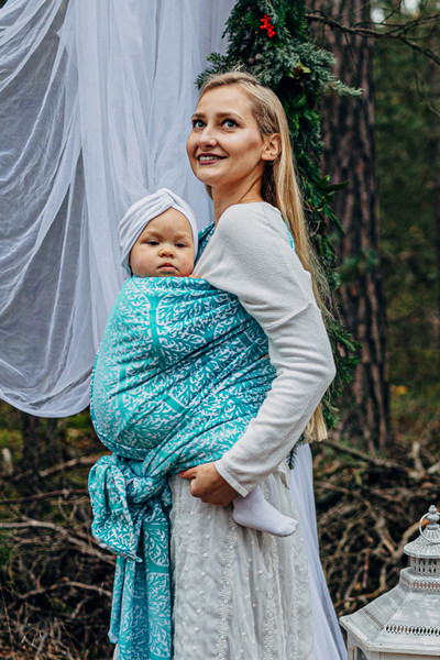 LennyLamb Woven Baby Wrap (Woodland Frost) - size 6 - LIMITED EDITION