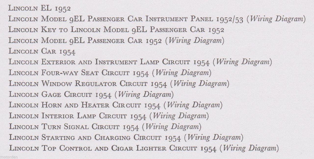 1954 lincoln wiring diagram all diagram schematics 1961 Thunderbird Wiring Diagram