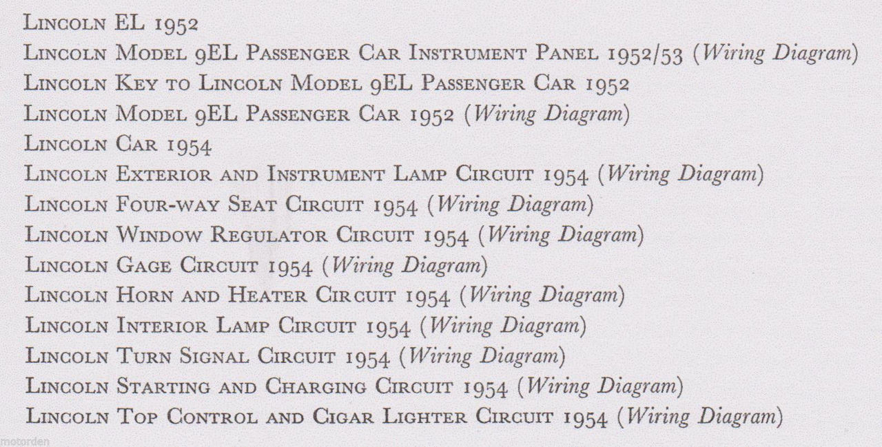 lincoln 1952-1954 data+wiring diagrams inc electric windows 15pp 1956 free  post
