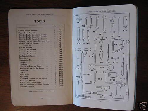 1933 TWELVE-SIX AUSTIN 12-6 original 1933 SPARE PARTS LIST superb FREE POST NR