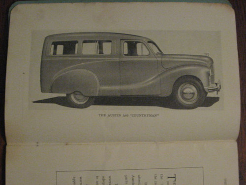 1949 AUSTIN 10-CWT VAN COUNTRYMAN PICK-UP scarce INSTRUCTION BOOK FREE POST
