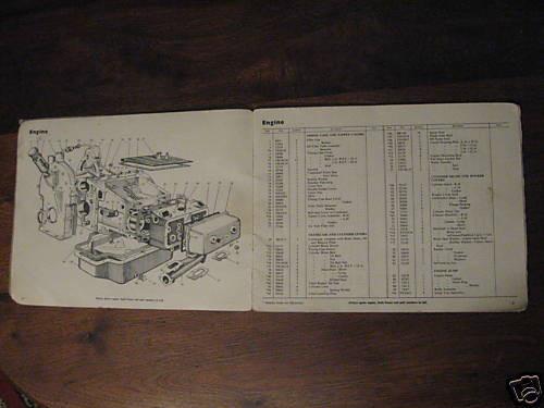 1950 JOWETT JAVELIN original large format  illustrated PARTS BOOK Free Post