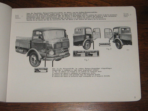 1959 MERCEDES-BENZ truck TYPE LP/ LAP 321 CATALOG B, ILL'D PARTS BOOK, FREE POST