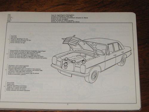 1968 MERCEDES-BENZ TYPE 200-200D-220-220D CATALOG A ILLD PARTS BOOK, FREE POST!