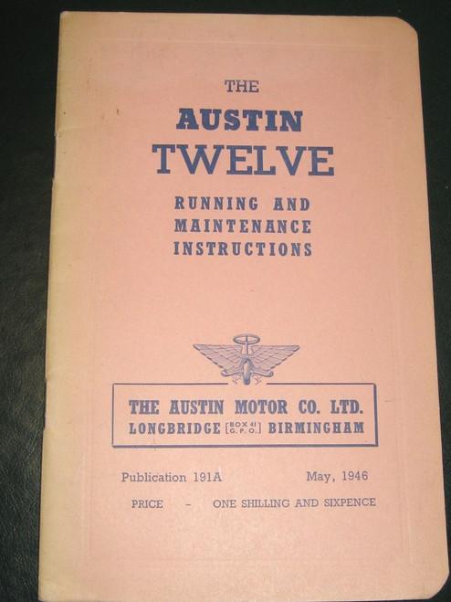 Austin TWELVE  or 12 original 1946 Illustrated HANDBOOK SUPERB unused FREE POST