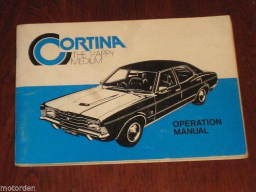 AUSTRALIA Ford CORTINA 1976 OPERATION MANUAL handbook maintenance FREE POST