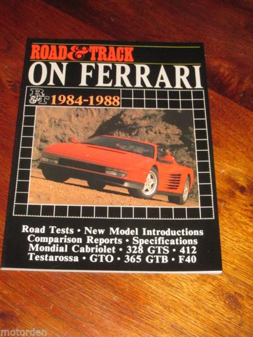 FERRARI 1984-1988, Mondial 328 GTS 412 Testarossa GTO 365 GTB F40 new! FREE POST