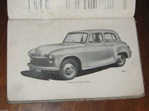 HILLMAN MINX Mark IV or 4 original May 1951 Rootes Group HANDBOOK, FREE POST
