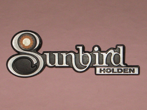 HOLDEN 'Sunbird' metal CAR BADGE in excellent condition, FREE POST anywhere!