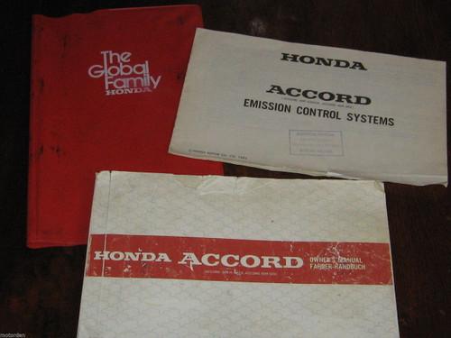 HONDA ACCORD 1983 multi language Owner Manual+vinyl wallet+booklet FREE POST! NR