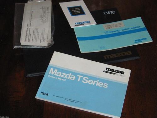 MAZDA T Series 1987 Owner Manual +vinyl wallet +service booklet etc, FREE POST!