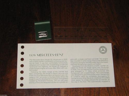 MERCEDES-BENZ Model SS 1928 STERLING SILVER METAL INGOT, 1976 ltd edit FREE POST