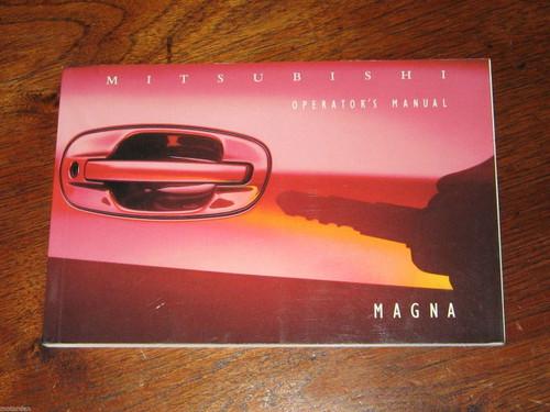 """Mitsubishi MAGNA TS Series 1995, 5/16"""" thick OPERATOR'S MANUAL, FREE POST"""