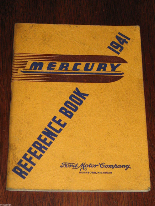 Original 1941 MERCURY REFERENCE BOOK 62 pages Ford, Dearborn Michigan, FREE POST