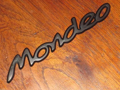 """Mondeo"" original Ford Australia CAR BADGE black plastic 6+"" long, FREE POST"