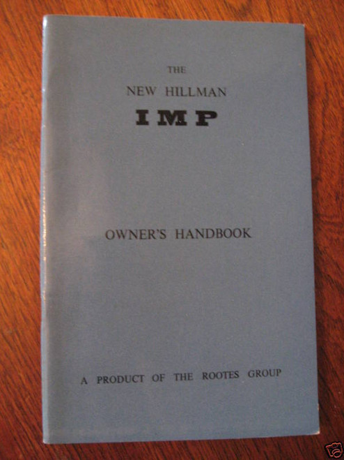 'NEW' HILLMAN IMP ROOTES GROUP Handbook 1964, FREE POST