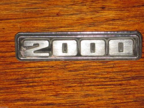 """2000   Chrysler Australian Centura?or? CAR BADGE 2 3/4"""" chromed metal, FREE POST"""