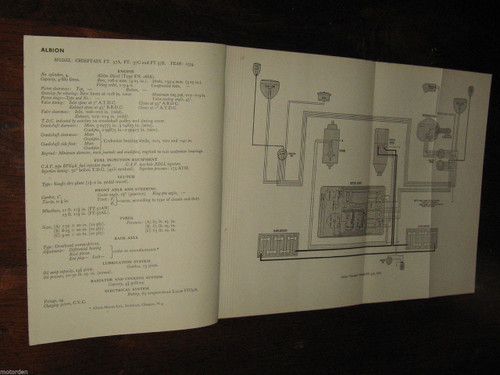ALBION Claymore Chiefton Clydesdale 1954-1956 data+wiring diagrams 5pp FREE POST