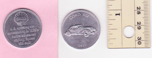 CORD 812 1937 SHELL oil/petrol METAL MEDALLION token? FREE POST