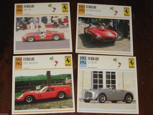 FERRARI 212 250MM 275 250GT Breadvan: 4 color photos+specificat CARDS, FREE POST