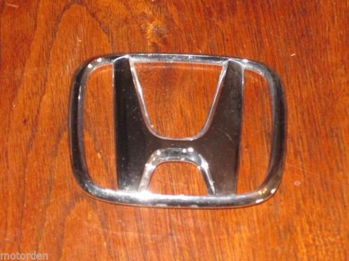 """HONDA original 'chrome' CAR BADGE EMBLEM 3 9/16"""" wide EXCELLENT COND. FREE POST"""