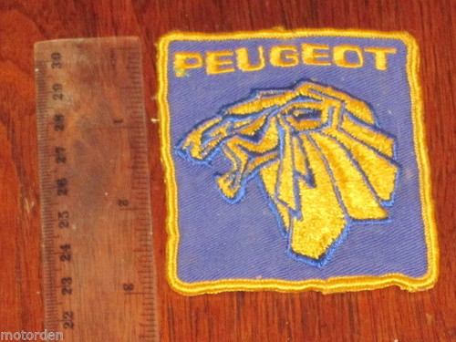 PEUGEOT old cloth rally/race car patch emblem/logo/badge Redex era? FREE POST NR
